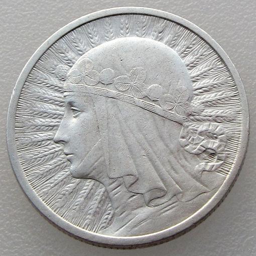 Польша, 2 злотых/ 2 Zlotych 1933 года, Ядвига, Y#20, серебро 750 пробы/ 4,4 г