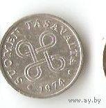 СТАРАЯ ФИНЛЯНДИЯ 1 ПЕННИ 1974