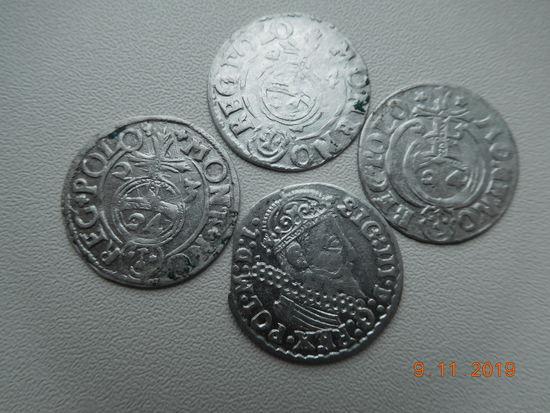 РАСПРОДАЖА КОЛЛЕКЦИИ !!! 3 гроша ( трояк ) 1623 г. Сигизмунд - III + полтораки 3 шт. ( без повторов )всё одним лотом, распродажа с 1 - го рубля, без минимальной цены ! Только на 3 дня !!!