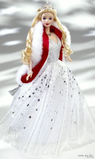 Кукла Барби/Barbie Holiday Celebration 2001 - коллекционная фирмы Mattel-(NRFB)!