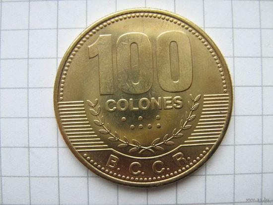 Коста-рика 100колон 2007г.