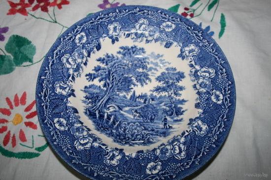 Тарелка старая Англия суповая