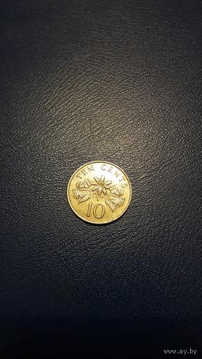Сингапур 10 центов 1986 год VF km#51