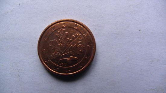 Германия 1 цент 2010г. F   распродажа