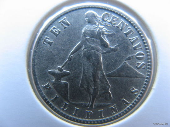 Филиппины 10 сентаво 1944 г. серебро