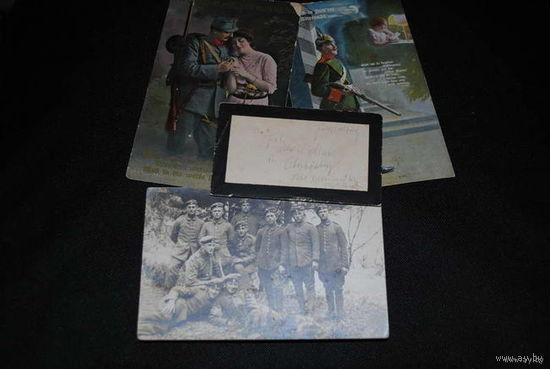 Сборный лот из двух тематических открыток на тему Первой мировой войны, одной фотографии и письма-похоронки_Зап.Евро па до 1918 года_цена за всё, что на фото, по отдельности пока не продаю_!