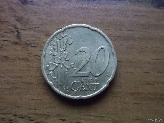 Германия 20 евроцентов 2002 A.