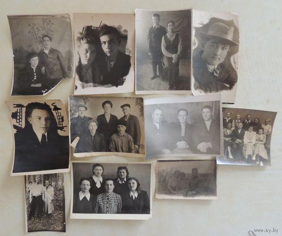 Фото бытовые, 1940- 50-е г., Зап. Беларусь, 11 шт.