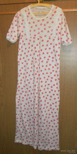 Ночная сорочка (пижама) новая детская, трикотажная, размер 32, хлопок 100%