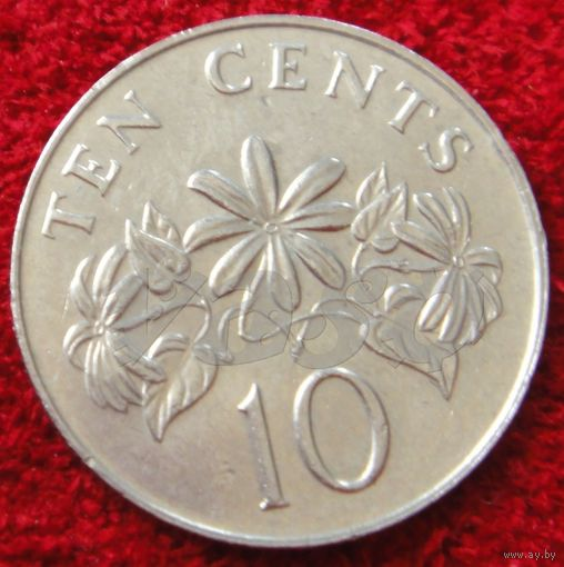 7519:  10 центов 1986 Сингапур