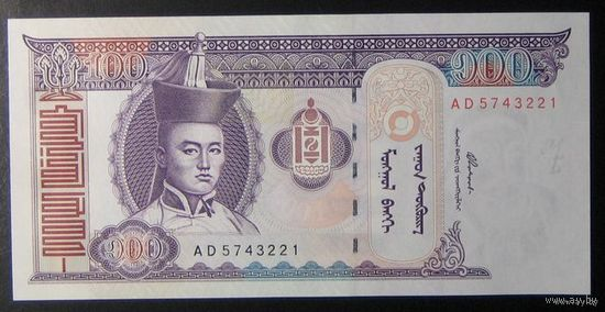 Монголия 100 Tugrik 2000г. UNC  распродажа