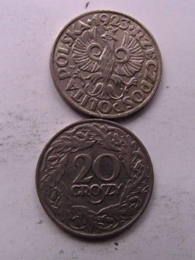 Польша 20 грошей 1923г No1 распродажа