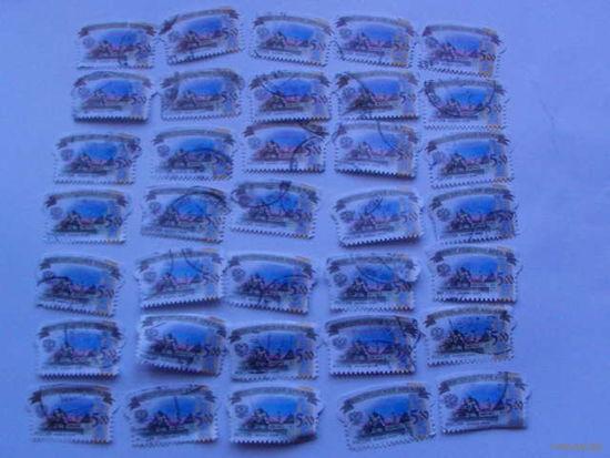 Россия марки 2009г Новгородский кремль 5 руб 35 шт распродажа