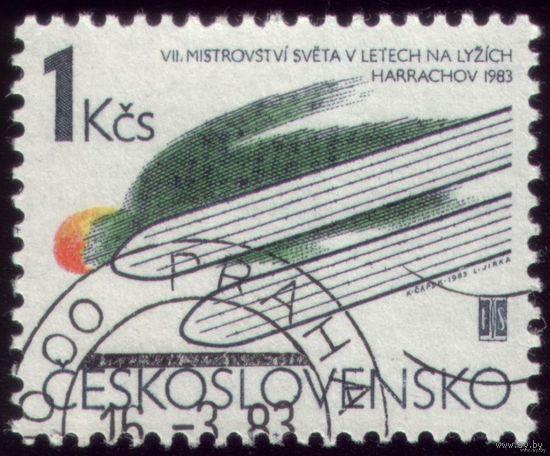 1 марка 1983 год Чехословакия Летун на лыжах