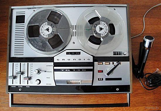 Магнитофон GRUNDIG TK-146 ( 1969 год) + микрофон GRUNDIG