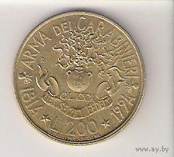 Италия, 200 lira, 1994г