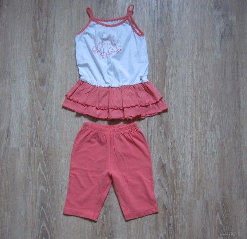 Комплект летний для девочки 1,5-3 года (туника + шорты)