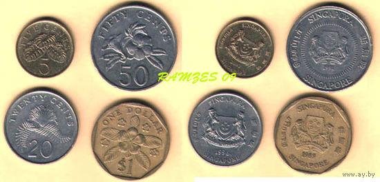 Сингапур. 5 с- 2003, 20 с- 1996, 50 с- 1991, 1$ - 1989