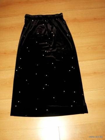 Нарядная бархатная черная юбка \ГЭП\