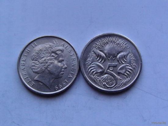 Австралия 5 центов 1999г  распродажа
