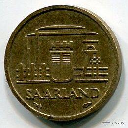 СААРЛАНД - 10 ФРАНКОВ 1954