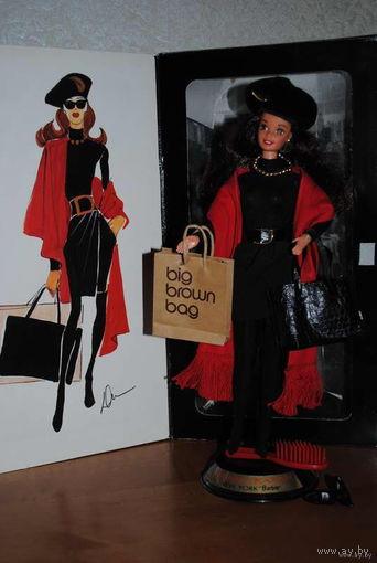 Коллекционная КУКЛА БАРБИ от MATTEL_дизайна_от Donny Karan_1995 года выпуска_Оригинал_в родной одежде,с аксессуарами,(всё кроме очков),кукла брюнетка,более редкая,чем блондинка!