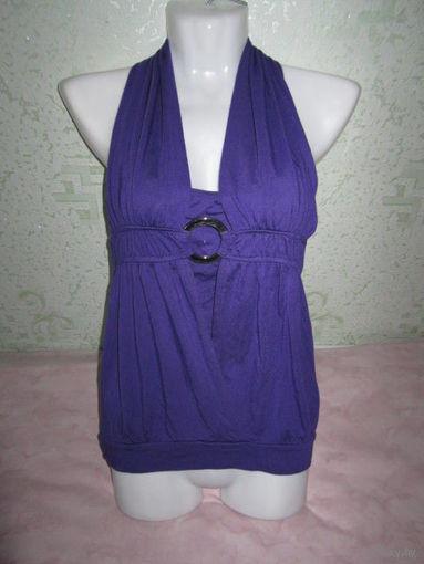Фиолетовый топ EXHIBIT с полуоткрытой спинкой, р.42-44