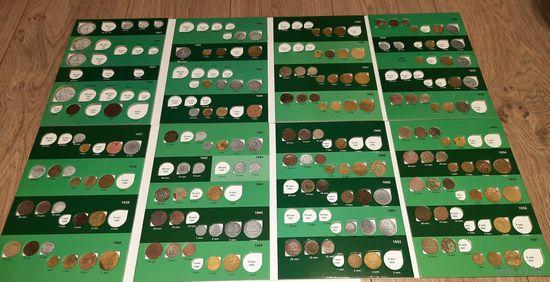 Дореформенные монеты СССР  в 2-х альбомах 118 шт. без повторов и м.ц.