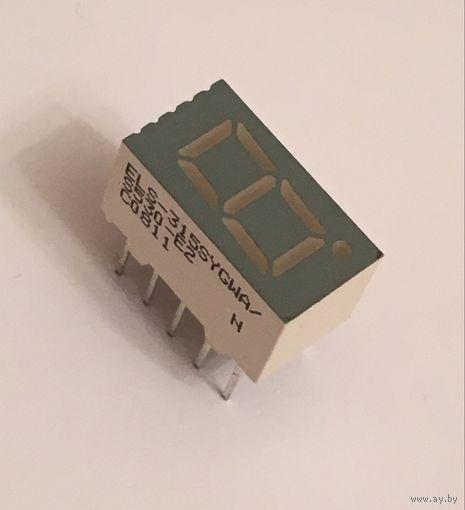 Светодиодный индикатор ((цена за 3 шт)) C0811 желто-зеленый S315SYGWA/S530-E2 Everlight