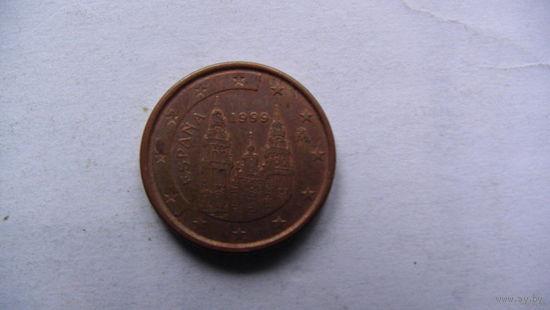 Испания 1 евро цент 1999г. распродажа