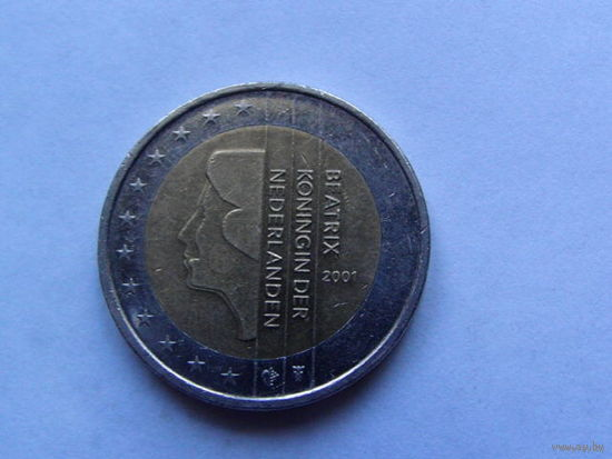 Нидерланды 2 евро 2001г.  распродажа