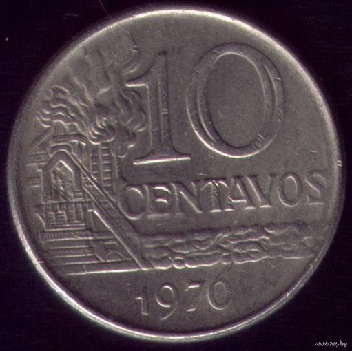 10 сентаво 1970 год Бразилия