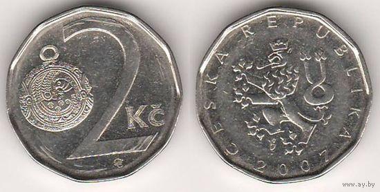 Чехия. 2 кроны 2007 года.