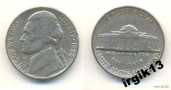 5 центов 1988 года. США
