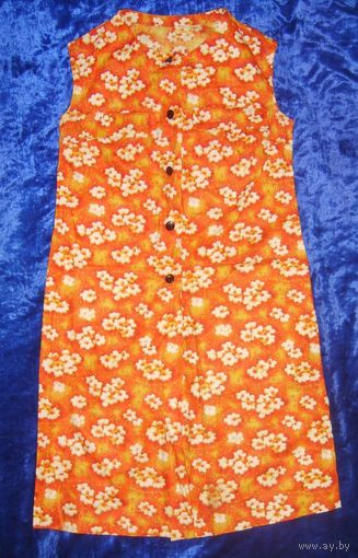 Платье летнее 60-х, размер 44-46