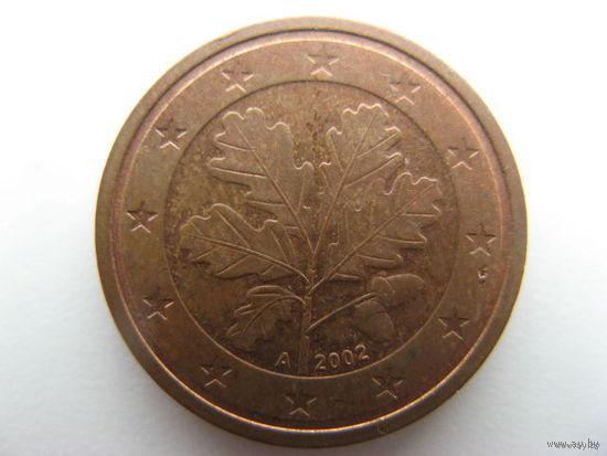 Германия 2 евроцента 2002г. (A)