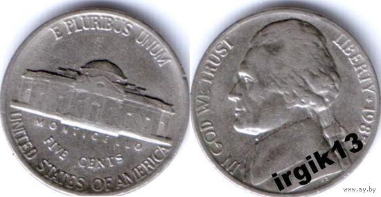 5 центов 1985 года. США