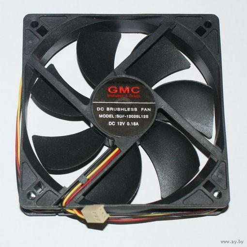 Вентилятор GMS 12см (SDF-12025L12S, 120мм, 3pin)