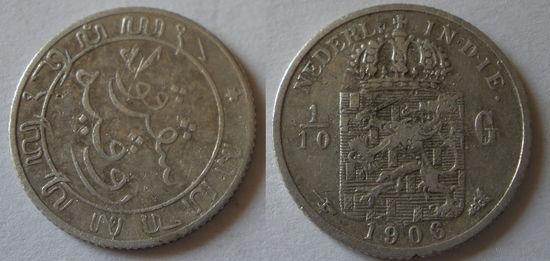 1/10 G   1906  год  серебро
