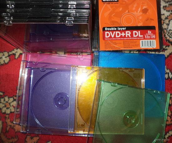 Футляры для 1 CD диска-25штук