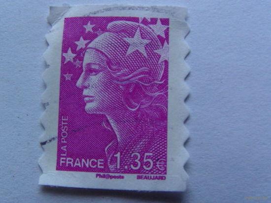 Франция марка фиолетовая  1.35 евро   распродажа