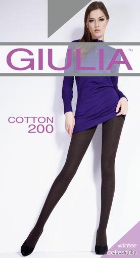 Хлопковые КОЛГОТКИ GIULIA Cotton 200 размеры 2-S, 3-M, 4-L, 5-XL