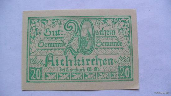 Австрия Нотгельды 20 геллер 1921г No2 распродажа