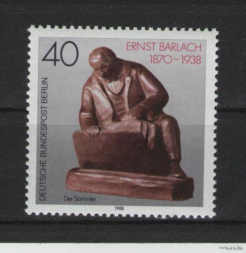 Западный Берлин 1988 г. Mi N 823** 50 лет со дня смерти Эрнста Барлаха выдающегося немецкого скульптора, художника