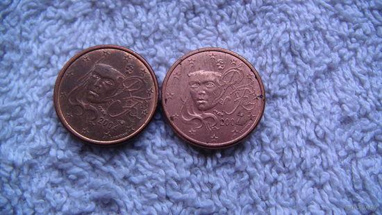 Франция 1 евроцент 2004г. распродажа