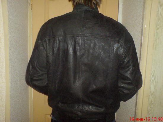 Куртка мужская  кожаная 50-52 р