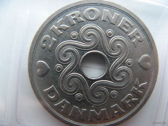 Дания 2 кроны 1993г.