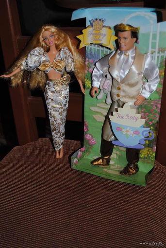 СУПЕР/распродажа:_Кукла Ken-(Кен)-Mattel,2004 года_Новый_И_+_Красотка кукла_Barbie/БАРБИ_Mattel_(б.у.)_/Но совсем мало/_В шикарном наряде и роскошными, как ниспадающий водопад волосами))=Ценна за Всё!