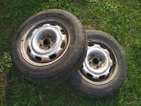 103433Щ Пара штамповок VW R14 + резина Michelin M+S 175/70