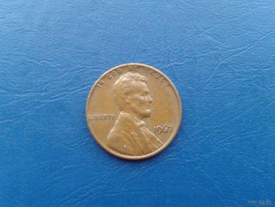 1 цент сша 1967г.  распродажа